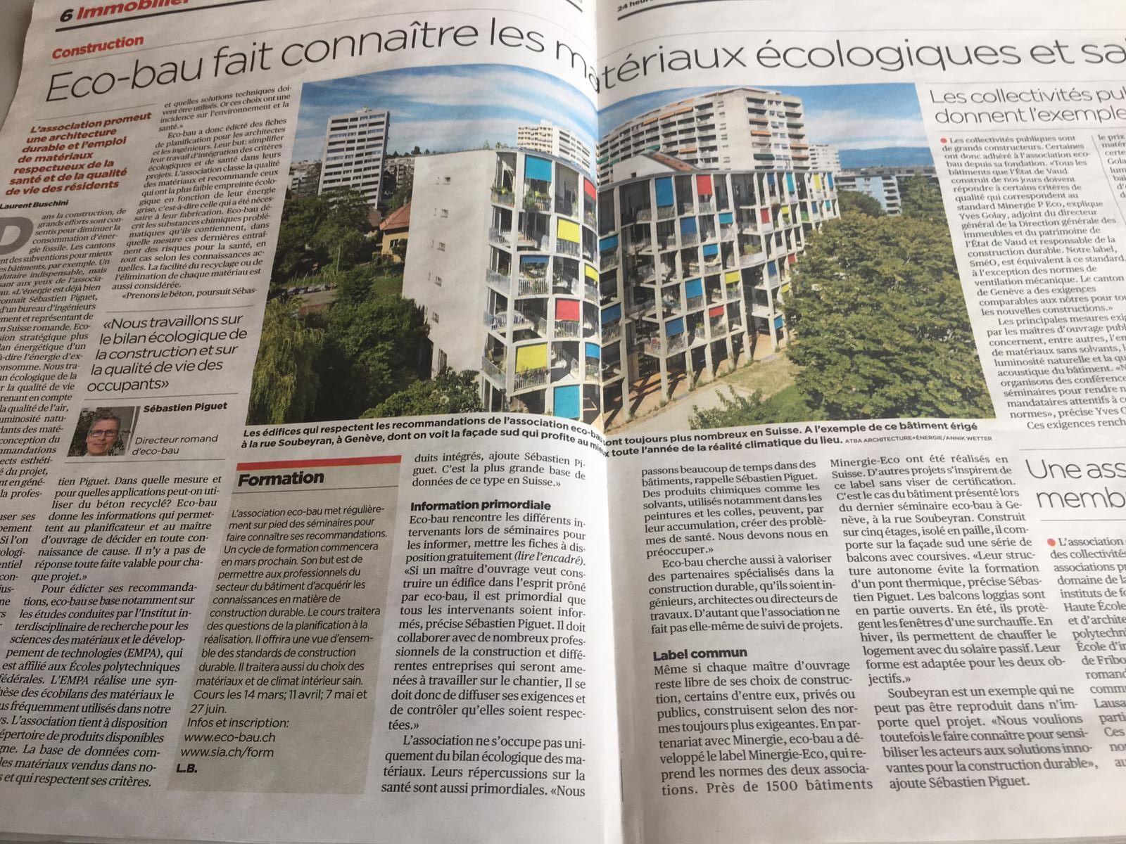 Eco-bau cherche à valoriser des partenaires spécialisés dans la construction durable.