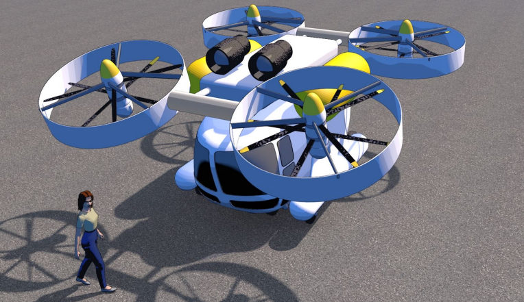 Drone à hydrogène (VTOL)