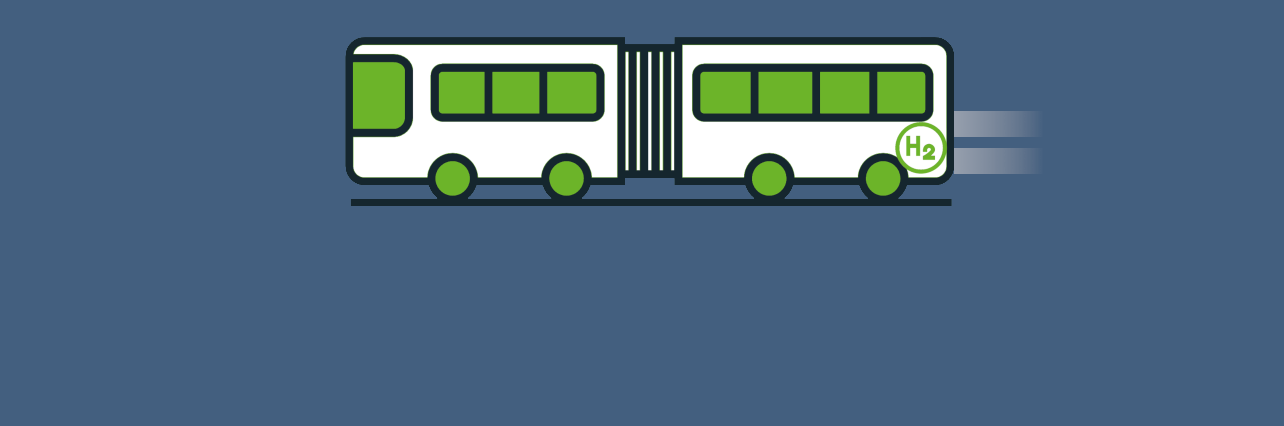 Bus à hydrogène icone