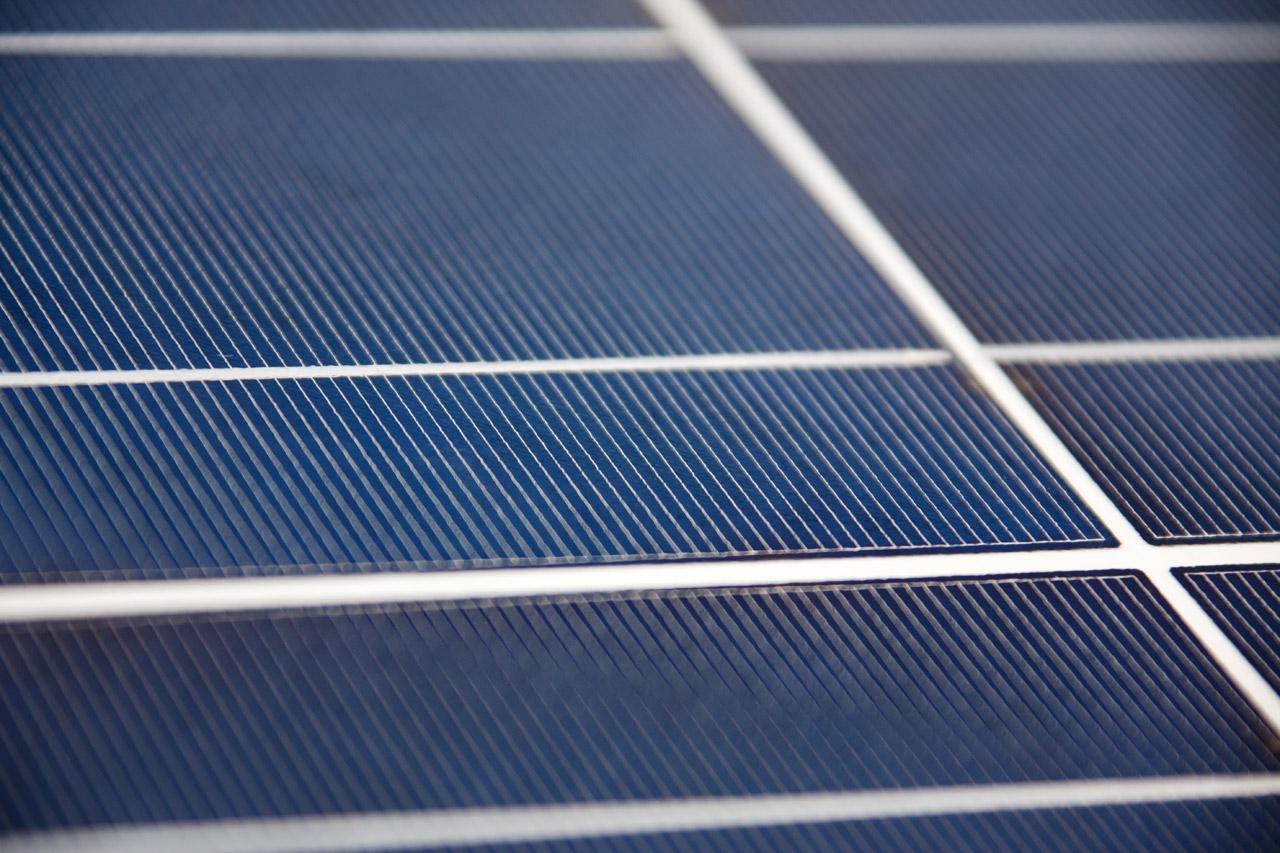 Macro panneaux photovoltaïque